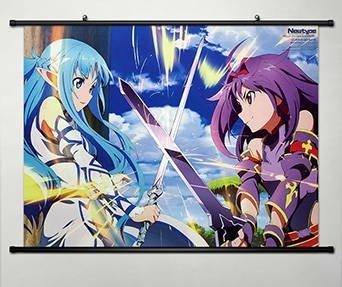 Anime Sword Art Online 2 Home Decor Wall Scroll Poster Fabri
