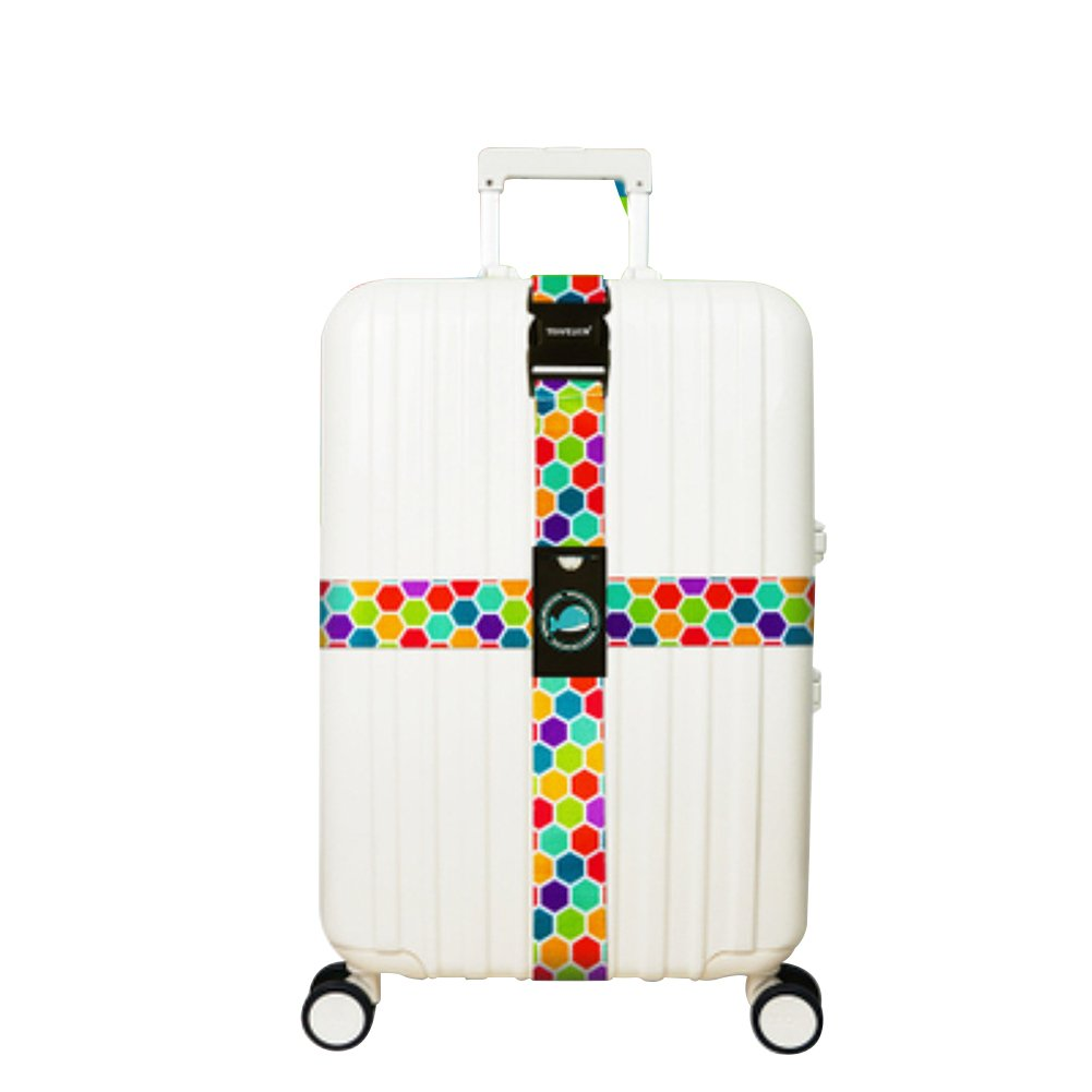 Colorful Luggage Straps Suitcases Cross Travel Belt Tags Wear Resistance Adjustable Size