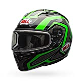 Bell 7076047 7076047 Unisex-Adult Full Face Helmet (Reflective Green, Large) (QUALIFIER SNOW DUAL SHIELD D.O.T certified snow off road)