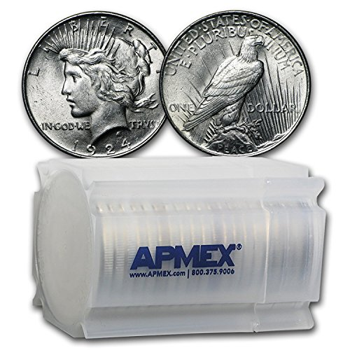 (1924 Peace Dollar BU (20-Coin Roll) $1 Brilliant)
