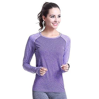 Buy Generic Yoga Top Fitness Women Gym Shirts-Purple-Parent Online ... c9cfa4c1ab
