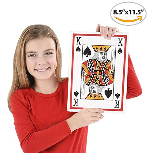 "Giant Jumbo Playing Cards Deck (8.5"" x 11.5"") by Gamie