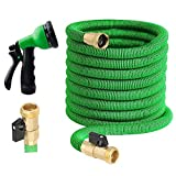 100 ft Garden Hose - Upgraded Expandable Water Hose Kit with 3/4 Solid