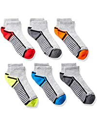 Boys' 6-Pair Half Cushion Ankle Socks