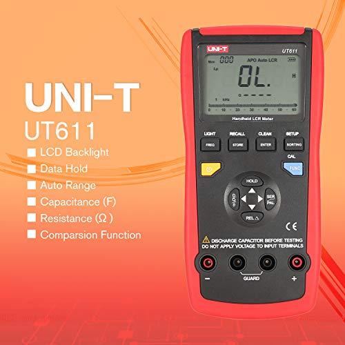 UNI-T UT611 Handheld LCR Digital Bridge Table Inductance/Capacitance / Resistance Tester Data Storage LCD Backlight -