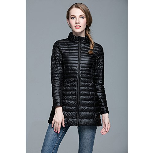 Oversize Bozevon Nero Women Long Sezioni Morbido Warm E Jacket Cappotto Winter Down Leggero UxHZwqx
