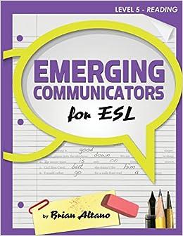 Book Emerging Communicators for ESL - Reading