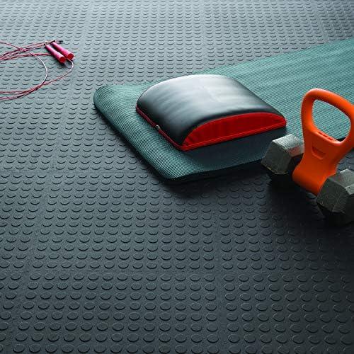 VersaTex 18 in 6 pack black Coin Top Garage Flooring Tiles x 18 in