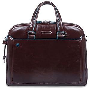 4be160c9e9 Piquadro Blue Square borsone di viaggio pelle 45,5 cm compartimenti  portatile