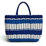 Tote Bag by Bambou, Fashion Purse Women, Waterproof Beach Bag, Ladies Shopping Bag, 100% Recycled Material Ocean Blue
