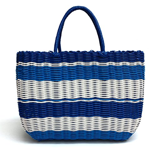 (Tote Bag by Bambou, Fashion Purse Women, Waterproof Beach Bag, Ladies Shopping Bag, 100% Recycled Material Ocean Blue)
