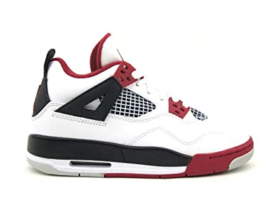huge discount 97ed9 c46fc Air Jordan 4 Retro (GS) White Varsity Red-Black (11.5)