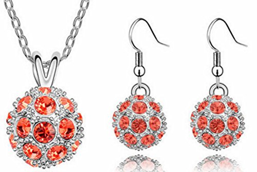 (Chariot Trading - 18K Gold Plated Crystal Trendy Ball Crystal Jewelry Sets)