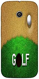 Snoogg Ball In Sand Golf Background Designer Protective Back Case Cover For M...
