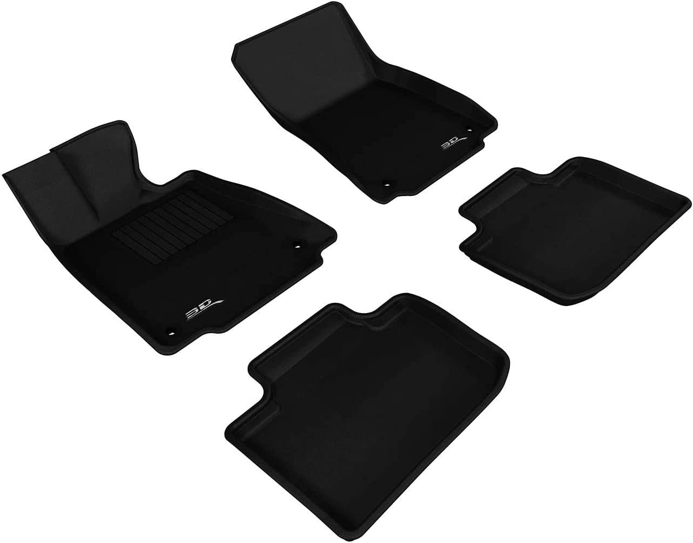 3D MAXpider Complete Set Custom Fit All-Weather Floor Mat for Select Lexus IS Models - Kagu Rubber (Black)