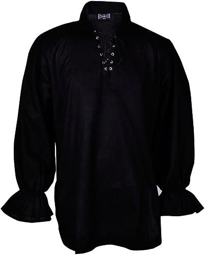 Renacimiento Ocasional de la Camisa del Verano del Pirata Medievales Hombres Traje de Color Diff Todos los tamaños
