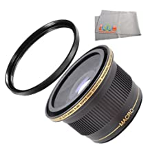 0.38X Ultra Super High Definition Panoramic Fisheye Lens + UV PROTECTION GLASS FILTER FOR CANON REBEL T3i, T2i (550D), Digital SLR Cameras.THESE LENSES AND FILTERS WILL ATTACH TO THE FOLLOWING CANON LENSES 18-55mm, 75-300mm, 50mm 1.4 , 55-250mm