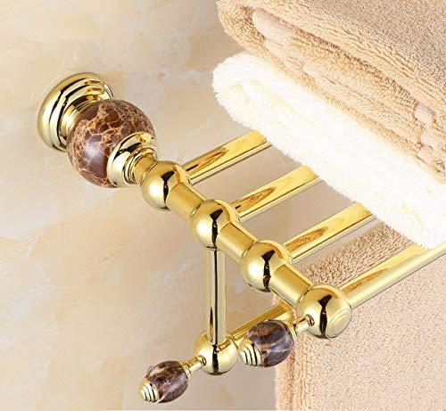 Hlluya Toallero Oro Negro Toalla de Jade montado en Rack en el perol, Toalla de baño, Toallas de baño: Amazon.es: Hogar