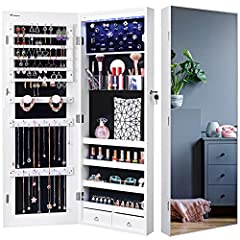 Different from the traditional JewelryCabinet with frame,       Nicetree Jewelry Cabinet is designed with full screen mirror without frame.       This design looks more fashion, simple and comfortable.Not only a practical armoire,   ...