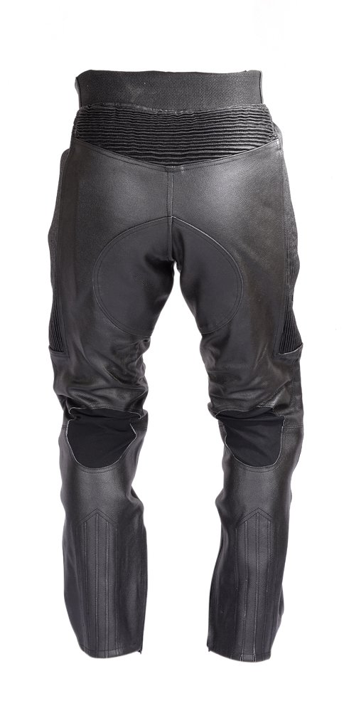 Mens Motorcycle Black Leather Pants with CE Rated 4 Piece Armor PT55 (M) by Xtreemgear (Image #3)
