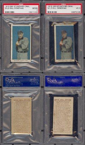 1910 E93 Standard Caramel Co Regular (Baseball) Card# 11 wild bill donovan (psa) of the Detroit Tigers Good ()