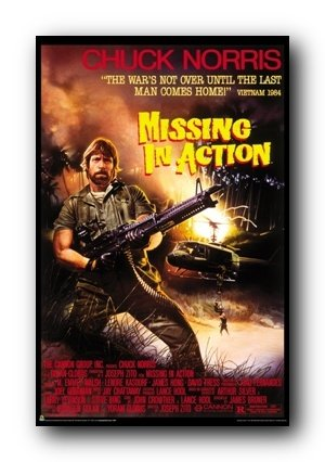 High Quality Missing In Action Movie (Chuck Norris) Poster Print Poster Poster Print,  24x36 Intended Missing In Action Poster