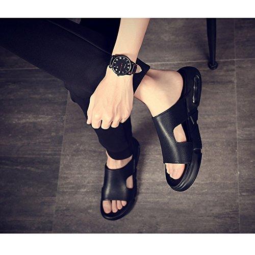 Acogedor Antideslizante Exterior Zapatos Vacaciones Black UK6 Color De Zapatos Moda EU39 Verano Tamaño Sandalias Personalidad Tendencia De Casuales YQQ Black 5 Zapatos Hombre De Zapatillas De EzXTxwqU