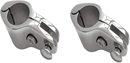 2x Boot Edelstahl Φ 25mm Rohrklemme Rohrschelle für Bimini-Top und