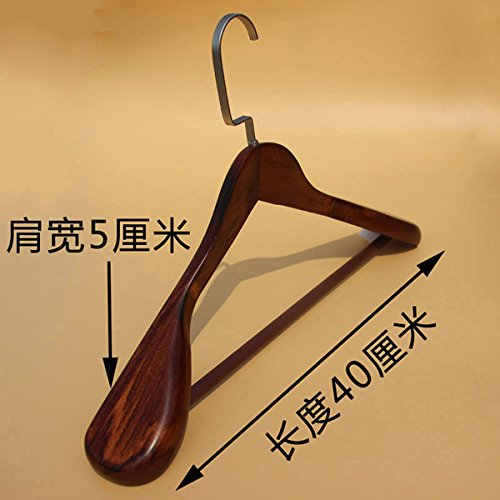 SHRCDC Natural Wood/Hanger(3/10Pack)/Widening/Adults/Tops/Hotels/Applicable/Hangers,10,G40Cm