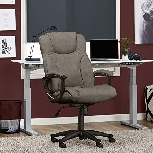 Serta Style Hannah II Office Chair, Bonded Leather, Gray