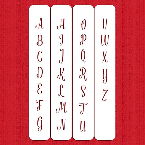Modern 1.25 Monogram Letters Cake Stencil C991 By Designer Stencils