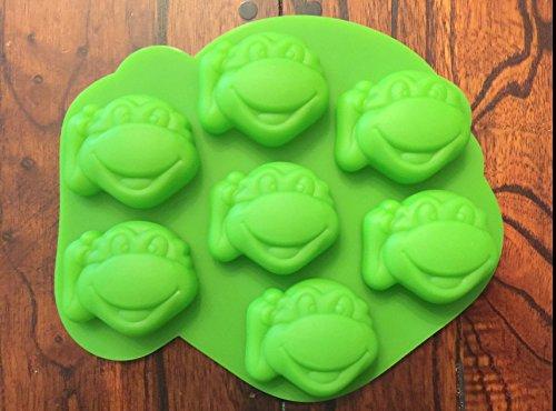 Teenage Mutant Ninja Turtles Silicone Candy Mold Chocolate Mini Cake Pan (Turtles Ninja Mold Mutant Teenage)
