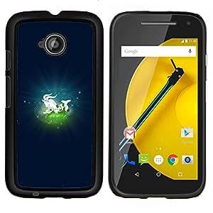 """Be-Star Único Patrón Plástico Duro Fundas Cover Cubre Hard Case Cover Para Motorola Moto E2 / E(2nd gen)( Capricornio Capricornius Signo del Zodiaco"""" )"""