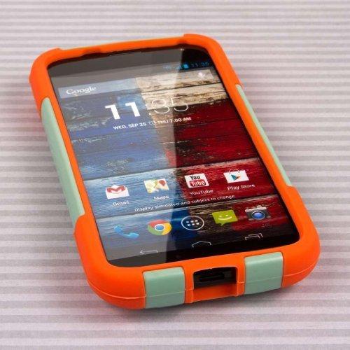Empire MPERO IMPACT X Series Kickstand Case for Motorola Moto X XT1060 XT1056 XT1053 - Retail Packaging - Coral/Mint