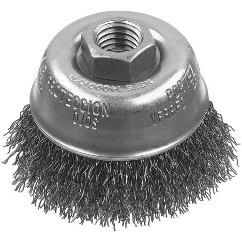 DEWALT DW49052 3/4-Inch by 1/4-Inch XP .020 Stainless Crimp Wire End Brush