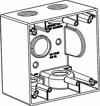 Orbit 2db50 5 Electric Box 2 58 Deep 5 Outlets W12 Hole Size