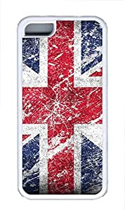 iPhone 5C Case British Flags TPU Custom iPhone 5C Case Cover White by mcsharks