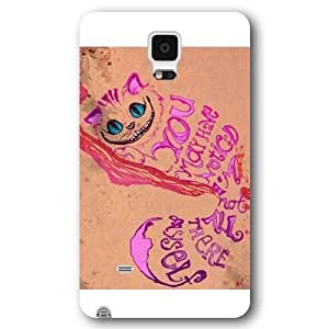 UniqueBox Customized Black FrostedSamsung Galaxy Note2 N7100/N7102 Case, Alice in Wonderland We're all mad here Cheshire Cat Smile FaceSamsung Galaxy Note2 N7100/N7102 case