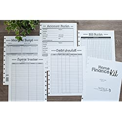"Home Finance Kit for Letter Size Disc-Bound Planners, Fits 8.5""x11"" Circa, Arc Systems, 1 Year Supply"