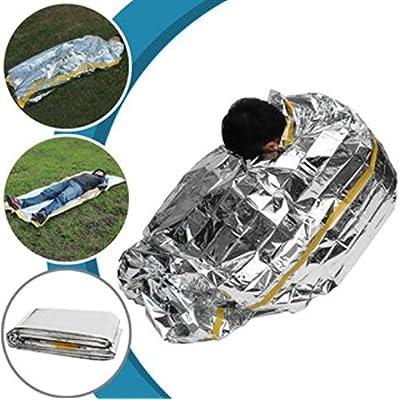 200x 100cm extérieur Sac de couchage d'urgence Camping de survie Rescue thermique Espace Couverture de survie par Shopidea