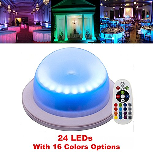(Acmee Remote Control 16 Colors Change 24 LEDs Swimming Pool Light,Rechargeable Remote Control Cordless 16 RGB Colors Decorative Waterproof Lights Indoor Outdoor Night Lights for Home Garden(1 pcs))