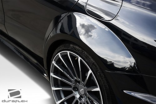 Duraflex Replacement for 2014-2015 Mercedes CLA Class Black Series Look Wide Body Rear Fenders - 4 Piece by Duraflex (Image #1)