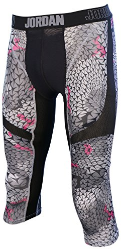 Jordan Men's Nike Pro Stay Cool Compression Tight Pants-Black/Gray-Small