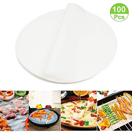 - (Set of 100) Non-Stick Round Parchment Paper 6 Inch Diameter, Baking Paper Liners for Round Cake Pans Circle