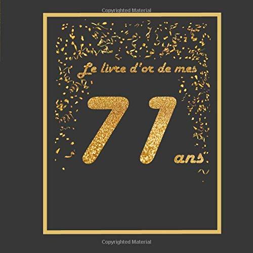 Le Livre D Or De Mes 71 Ans Theme Black Or Livre A