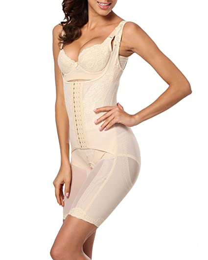 27e63f68d9 Image Unavailable. Image not available for. Color  Womens Strap Full Body  Shaper Bodysuit Tummy Control Thigh Slimmer Shapewear