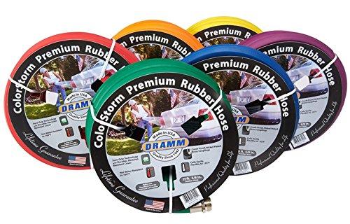 Color Storm Premium Rubber Hose - Dramm 10-17100 Colorstorm Heavy Duty Garden Hose, Assorted
