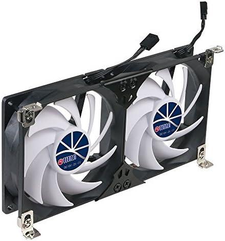 Titan- 12V DC Double Rack Mount Ventilation Cooling Fan for Fridge Vent