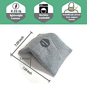 Travel Neck Pillow, Scientifically Proven Super Soft Neck Support Scarf Pillow Comfortable, Lightweight and Machine Washable Flight Neck Pillow for Airplane Travel Accessories with Eye Mask & Earplugs