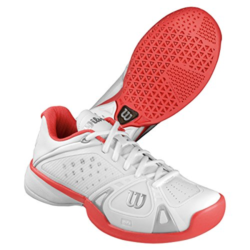 Wilson Rush Pro Women's Tennis Shoes White/Cherry 6.5